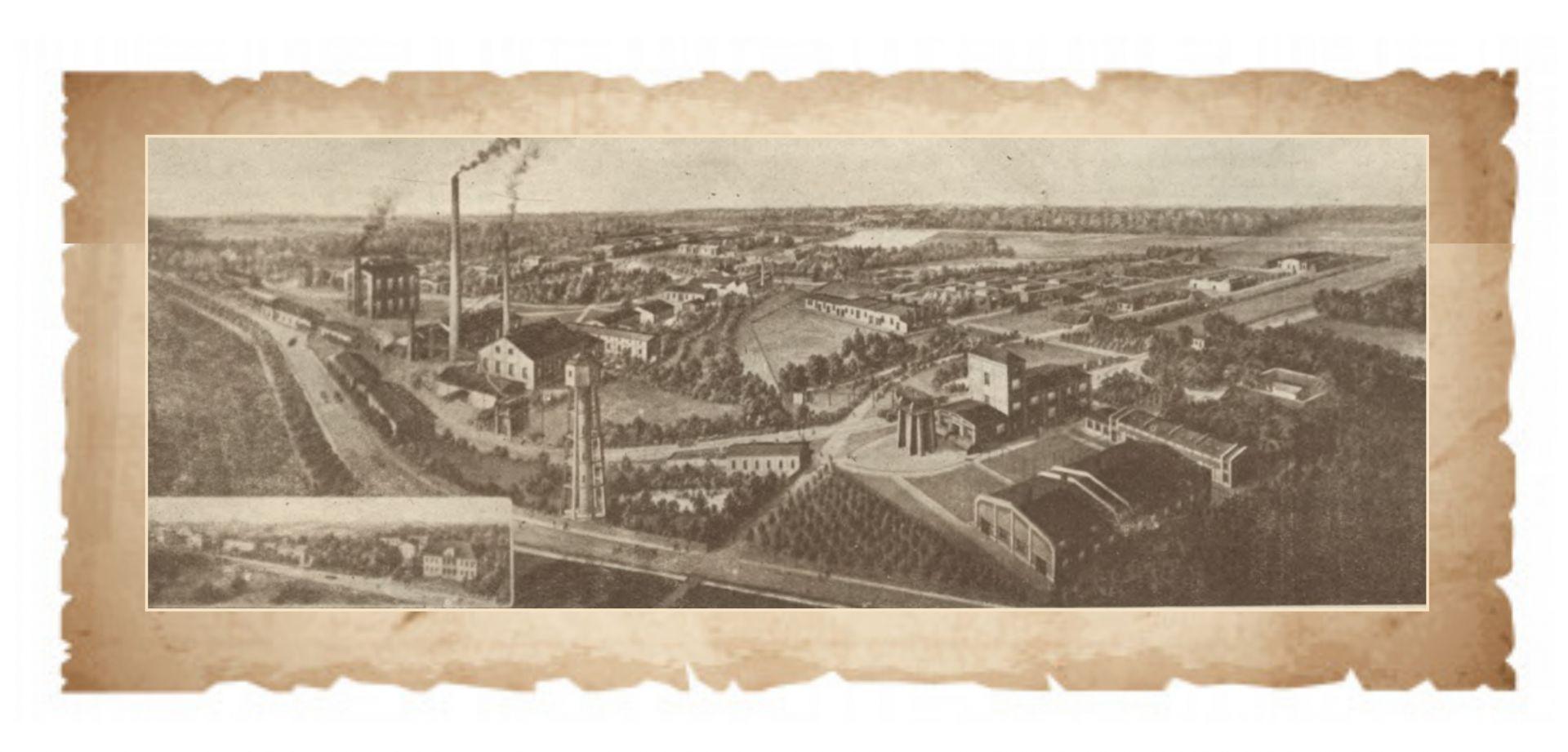 Widok Fabryki Lignoza_przełom XIX i XX wieku